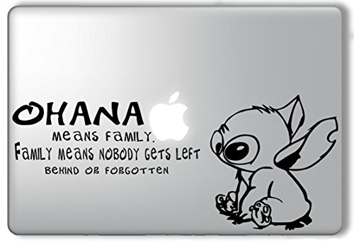 Stitch Ohana Means Family - Apple Macbook Laptop Vinyl Sticker Decal (Ohana Decal compare prices)