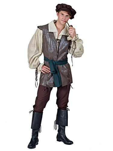 faux leather vest, poly pants, a sash/belt and a Boot tops and pipe sold separately. (Vest Renaissance Girl Costume)