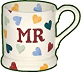 Emma Bridgewater Polka Hearts Mr 1/2 Pint Mug 0.3ltr