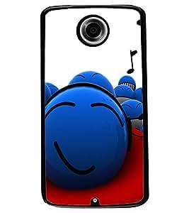 ColourCraft Funny Smilies Design Back Case Cover for MOTOROLA GOOGLE NEXUS 6