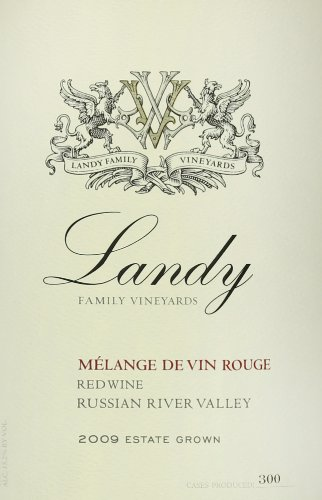 2009 Landy Family Vineyards Russian River Valley Melange De Vin Rouge 750 Ml