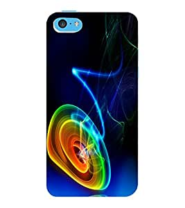 ColourCraft Abstract Design Back Case Cover for APPLE IPHONE 5C