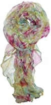 LibbySue-Light   Luxurious 100 Silk Floral Scarves in Soft Colors