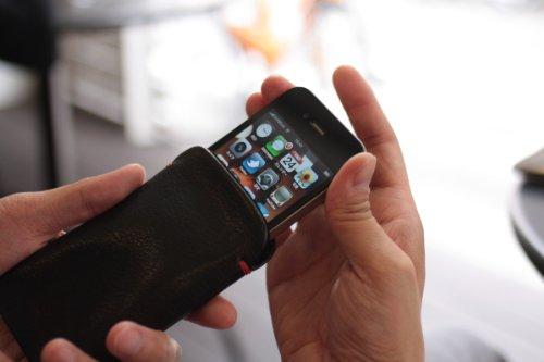 iPhoneケースM レザー(牛革)スマートフォンカバー 【3GS/4/4S/Bumpers/Airジャケット/XPERIA/GALAXY/他】 ダークブラウン