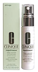 CLINIQUE by Clinique: REPAIRWEAR DEEP WRINKLE CONCENTRATE ( FOR FACE & EYE )--/1OZ
