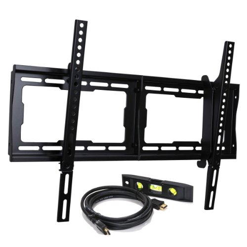 Videosecu Mounts Plasma Lcd Led Flat Screen Tv Tilting Dual Hook Wall Mount Stand For Vesa Up To 600X400 With Weight Capacity Up To 165Lbs, Including 10Ft High Speed With Ethernet Hdmi Cable Mf608B Bg3
