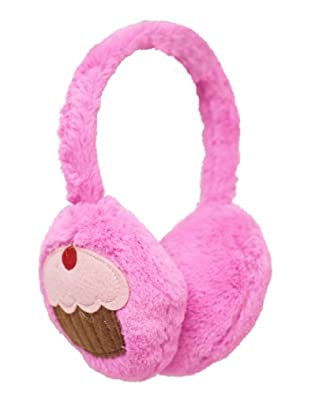 Beverly Hills Teddy Bear Co. Pink Plush Cupcake Ear Muffs