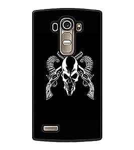 PrintDhaba Skull D-1187 Back Case Cover for LG G4 (Multi-Coloured)