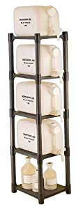 "Bel-Art Scienceware   118510000, 15-1/4"" Length x 13-7/8"" Width x 60"" Height Polyethylene Dispensing Jug Rack"