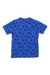 Poppers by Pantaloons Boy's Round Neck T-Shirt (205000005605960, Blue, 7-8 Years)