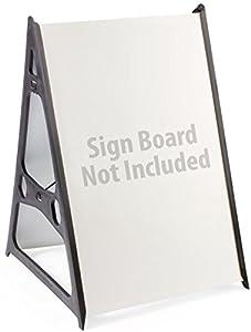 Set Of 3 Adjustable Plastic Sidewalk Sign Frames A Frame Style For Outdoor Or