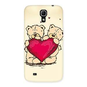 Cute Heart Twin Teddy Back Case Cover for Galaxy Mega 6.3