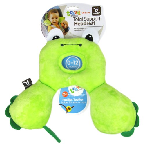 Baby Kid Toddler Child Infant Newborn Car Booster Seat Stroller Travel Neck Saver Positioner Protector Head Rest Support Cartoon Animal Pillow (S, Frog) front-1001221