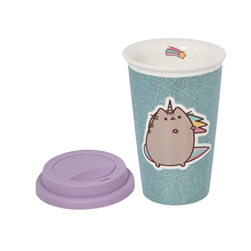 Pusheen Glitter unicorno Ceramic Travel Mug