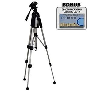 "Deluxe 57"" Camera Tripod with Carrying Case For The Nikon Coolpix S1, S2, S3, S5, S6, S9, S7, S50, S51, S52, S60, P1, P2, 4600 Digital Cameras"