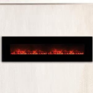 Amazon Com Dream Flame Wall Mount Linear Electric