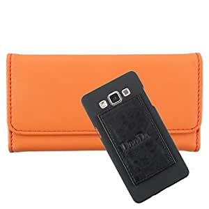 DooDa PU Leather Wallet Flip Case Cover With Card & ID Slots For Huawei Ascend G510 - Back Cover Not Included Peel And Paste