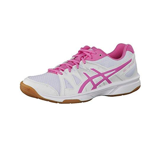 Asics Gel-Upcourt Gs Scarpe da Pallavolo, Unisex Bambini, Multicolore (White/Azalea Pink/White), 36