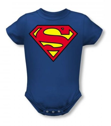 Superman - Classic Logo Infant T-Shirt In Royal Blue, Size: 18-24 Months, Color: Royal Blue front-941888