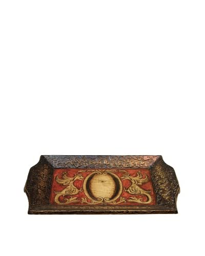 Norbert Tray, Toffee/Red/Creme