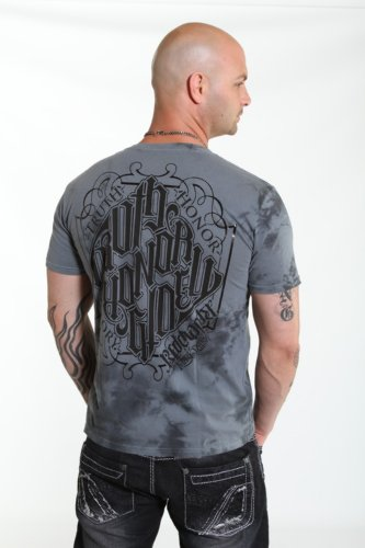 Red Chapter Mens Truth Honor Glory V Neck Shirt Charcoal Size: XXL