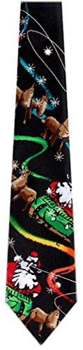 Jerry Garcia Silk Necktie - Black Green Red (Jerry Garcia Christmas Ties compare prices)