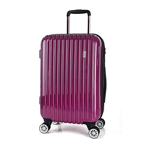 BIUBIU bloccano caster PC ABS + dogana valigia scatola di imbarco antifurto , purple , 28 inch