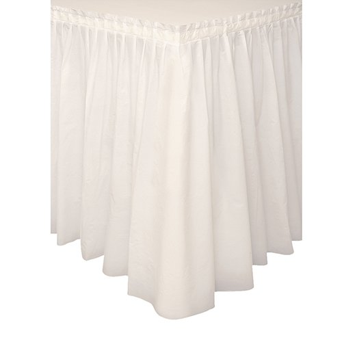 Plastic Table Skirt, 14 Feet, Ivory (Plastic Table Covering compare prices)