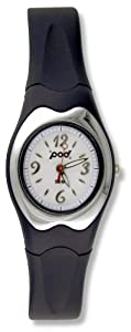 Pod Ladies 50M Water Resitant Watch With White Dial And Black Strap