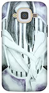 The Racoon Grip printed designer hard back mobile phone case cover for Samsung Galaxy J2 (2016). (Shadows)