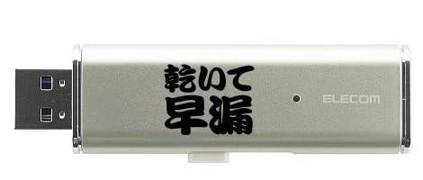 【NO!早漏です!】レッテルシリーズ 乾いて早漏 USBメモリ 16GB(シルバー)