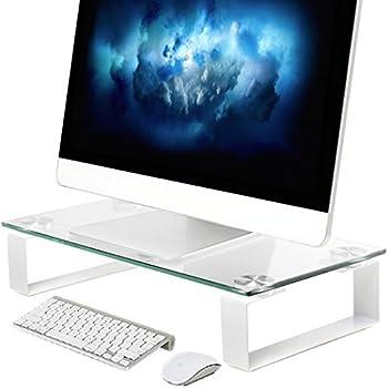 Computer Monitor Riser Multi Media Desktop Stand (16.2 X 8.3 X 3.2 inch)