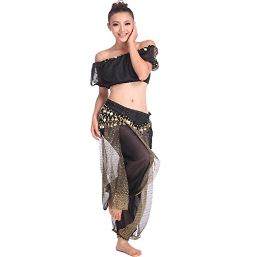 Pilot-trade Women's Professional Belly Dance 3-pieces Costume Set
