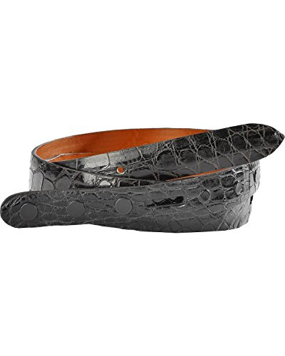 Lucchese Men's Alligator Leather Belt Black 38 (Alligator Belt Black compare prices)
