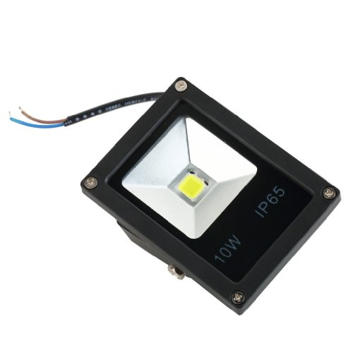 Led Floodlight 10W White Color Slim Waterproof Outdoor Ac85-265V Spotlight High Powered Ip65 Energy Efficient Long Life Interiors/Exteriors 50,000 Hours