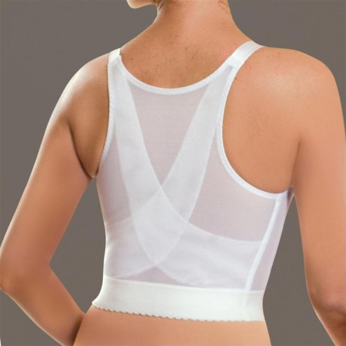 fb3f3b9b99 Glamorise Front Close Longline Posture Back Support Bra G-2260 40D White  Feature