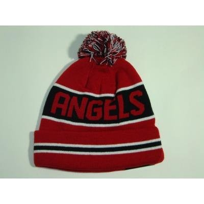 New Era California Angels Black Striped Jake Cuffed Knit Check Price ... 561b5f05726a