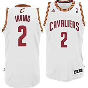 NBA adidas Kyrie Irving Cleveland Cavaliers Revolution 30 Swingman Jersey - White... by adidas