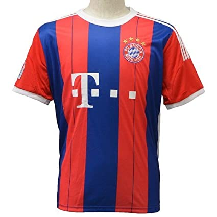 FC Bayern Munich Short Sleeves Home Soccer Jersey 2014 Football Shirts (M)