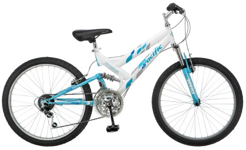 Pacific Girl's Chromium Mountain Bike, White, One Size