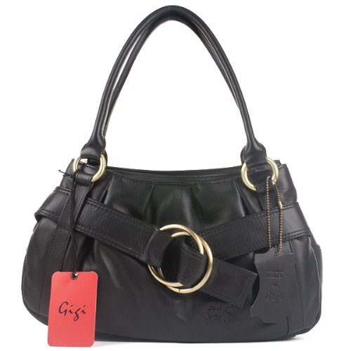 Gigi Othello Fashion Handbag - Black Leather