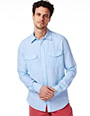 Blue Harbour Pure Linen Chambray Shirt