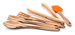 Rachael Ray Tools Bamboo 5-Piece Tool Set, Orange