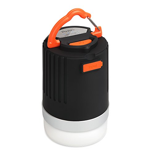Combination of Camping Lantern and Power Bank Panpany Portable Outdoor LED Lantern Flashlight Waterproof Lantern Light with 2.1A Output USB Charging (Anti-Collision, Black) (Solar Powered Portable Cooler compare prices)
