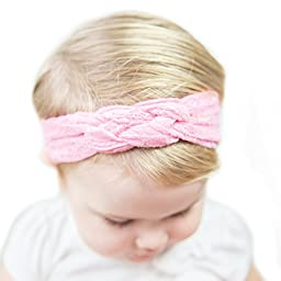 Baby Girl Lace Knotted Infant Turban Headbands in 5 colors by Felicity Kate
