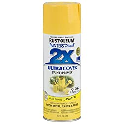 Rust-Oleum 249092 Painter's Touch 2x Spray Paint Gloss - SUN YELLOW