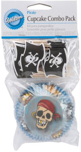 Wilton Cupcake Decorative Combo Pack, Pirate, 24-Pack