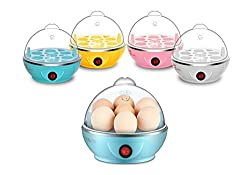 NEW Stylish Mini Electric 7 Egg Poacher Steamer Cooker Boiler Fryer For Egg (Random Color)