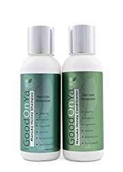 Hair Loss Prevention Shampoo and Conditioner Set with Manuka Honey (4 oz bottles) by GoodOnYa Hair Products. Sulfate Free