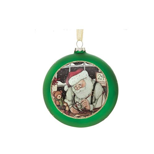 Silvestri Santa's Workshop Glass Ball Ornament